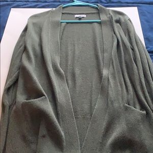 Forest Green Open front Cardigan